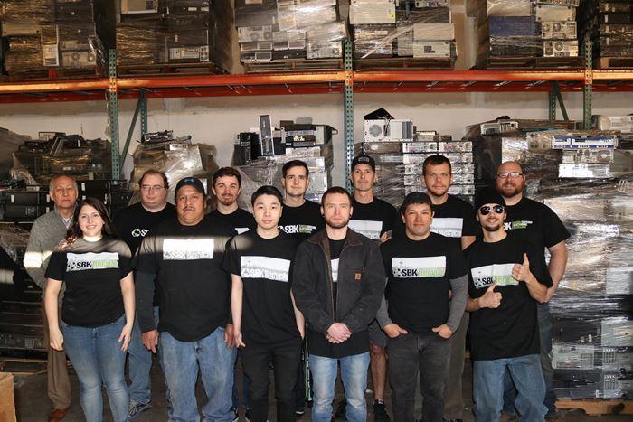 SBK recycle team in Black Tshirts